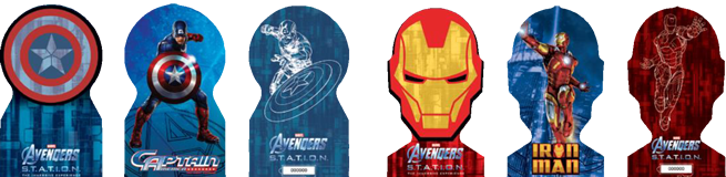 commemorative avengers tickets